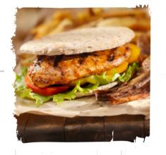 Burger zkurczakiem barbecue wpicie