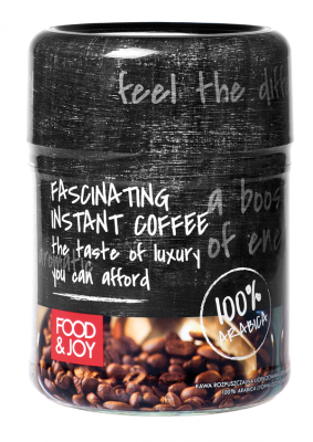 100% Arabica lyophilized instant coffee