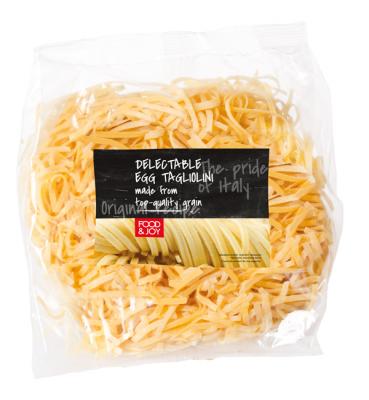 Fresh egg tagliolini pasta
