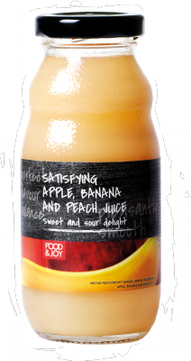 Banana, apple and peach nectar. Fruit content min. 36%.