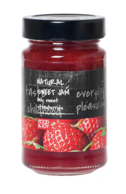 Lightly sweetened strawberry jam