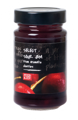 Lightly sweetened cherry jam