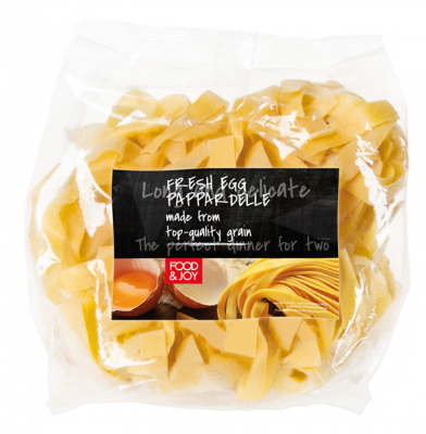 Fresh egg pappardelle pasta