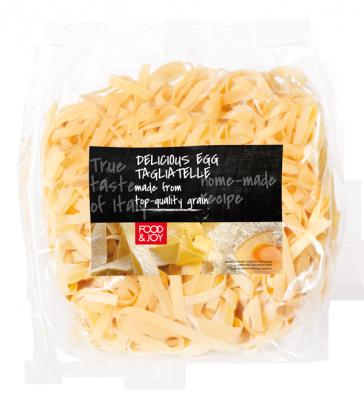 Fresh egg tagliatelle pasta