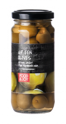 Green pitted Manzanila olives