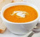 Spicy Pumpkin Soup with Coconut Cream