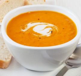 Spicy Pumpkin Soup with Coconut Cream