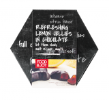 Lemon flavored jellies in chocolate