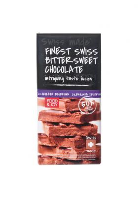 Szwajcarska deserowa czekolada. Zawartość kakao 50%.