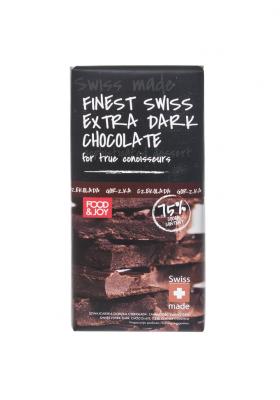 Szwajcarska deserowa czekolada. Zawartość kakao 75%.