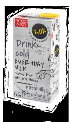 Mleko UHT zawartość tłuszczu 2%