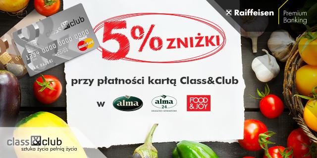 Rabat zapłatność kartami Class&Club