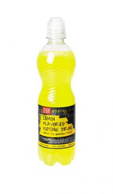 Sportowy napój izotoniczny lekko gazowany osmaku cytrynowym zdodatkiem witamin